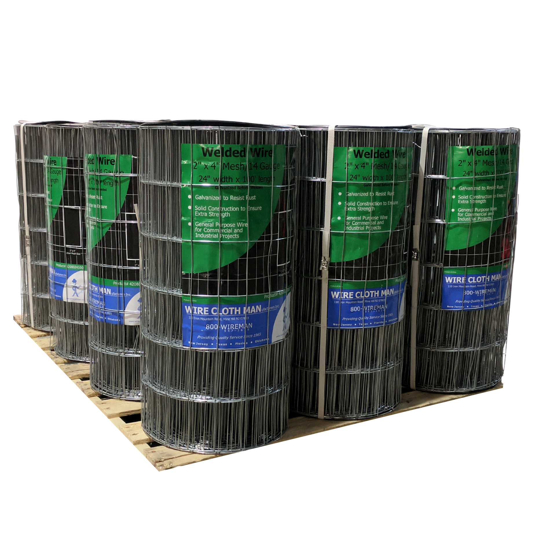 Welded Wire Rolls on Pallet