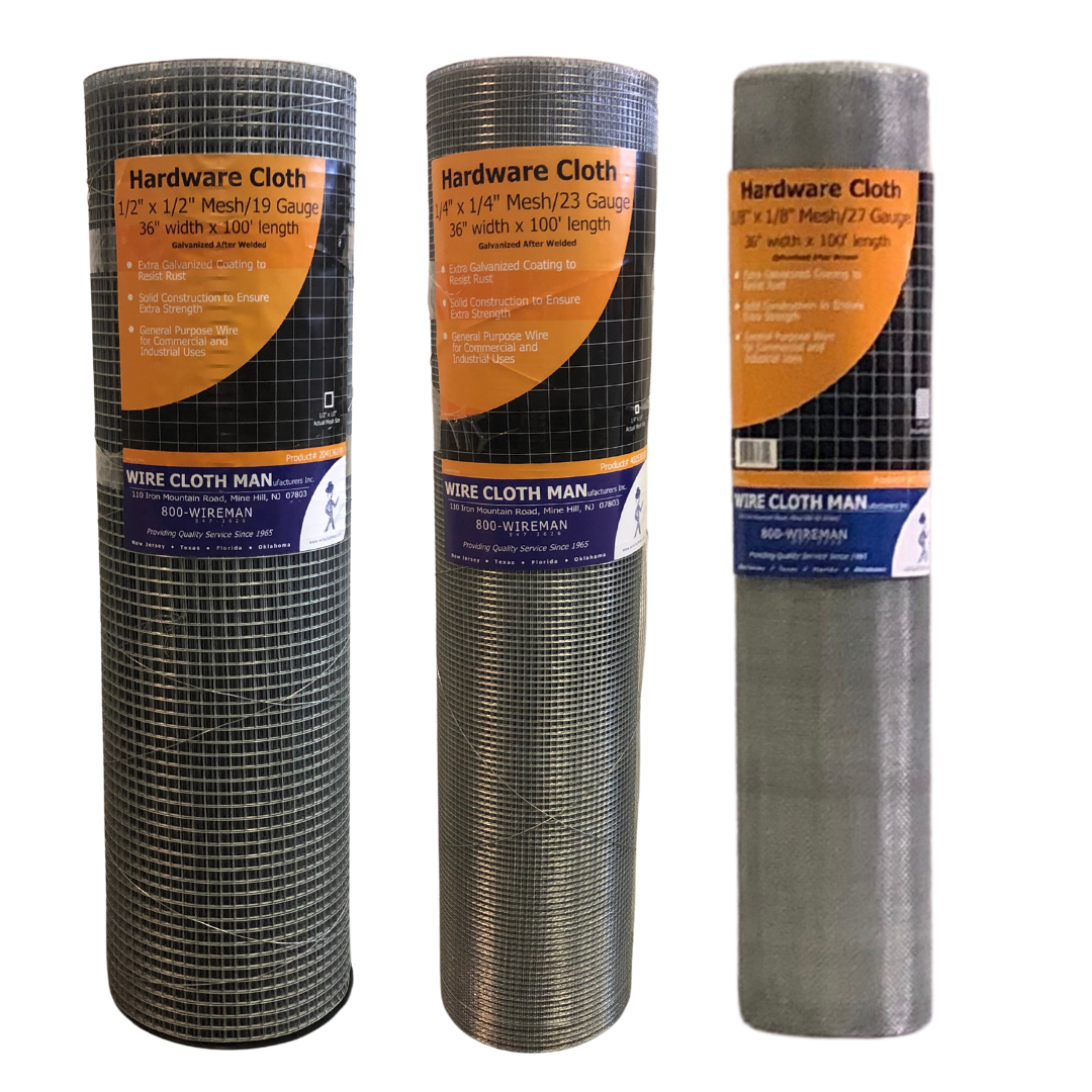 Hardware Cloth Rolls - 1-2 and 1-4 and 1-8